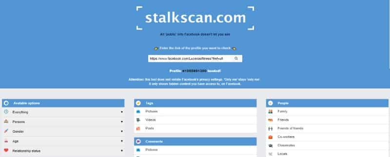 herramienta para ver fotos privadas de facebook