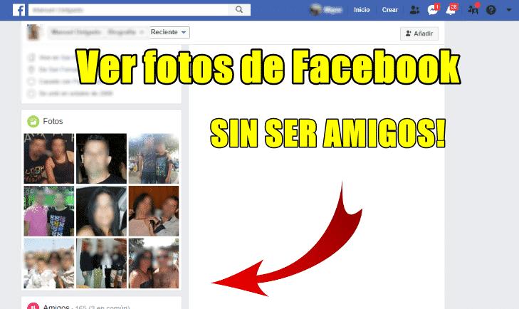 como ver las fotos de facebook de otra persona