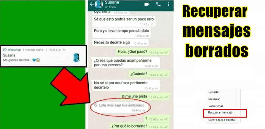 recuperando mensaje eliminado de whatsapp