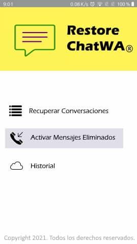 recuperar mensaje sin desinstalar whatsapp